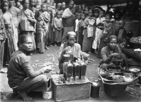 """""""COLLECTIE TROPENMUSEUM Vrouwen tijdens de bereiding van jamu een traditioneel geneesmiddel op de markt te Jogjakarta TMnr 60027047"""" by Tropenmuseum, part of the National Museum of World Cultures. Licensed under CC BY-SA 3.0 via Commons - https://commons.wikimedia.org/wiki/File:COLLECTIE_TROPENMUSEUM_Vrouwen_tijdens_de_bereiding_van_jamu_een_traditioneel_geneesmiddel_op_de_markt_te_Jogjakarta_TMnr_60027047.jpg#/media/File:COLLECTIE_TROPENMUSEUM_Vrouwen_tijdens_de_bereiding_van_jamu_een_traditioneel_geneesmiddel_op_de_markt_te_Jogjakarta_TMnr_60027047.jpg"""
